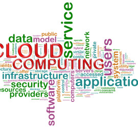 Cloud computing word tags